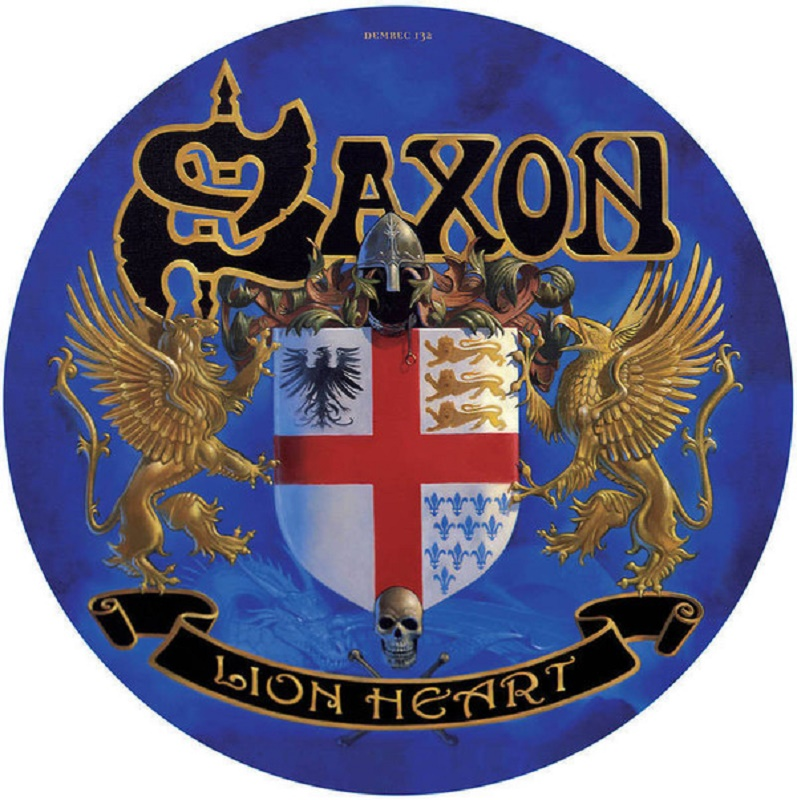 "Demon Records Picture Disc Saxon ""Lion heart"""
