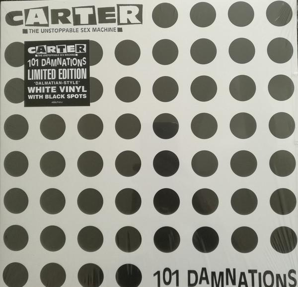 "LP CARTER USM ""101 DAMNATIONS"" White Vinyl With Black Spots"
