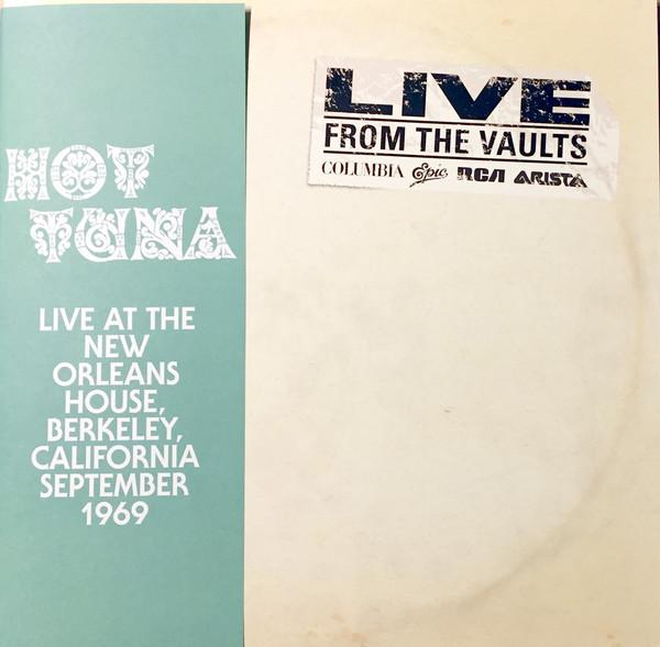 "Sony Music 2LP HOT TUNA ""LIVE AT THE NEW ORLEANS HOUSE"""
