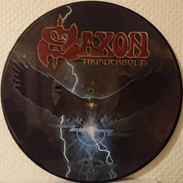 "PICTURE DISC LP SAXON ""THUNDERBOLT"""