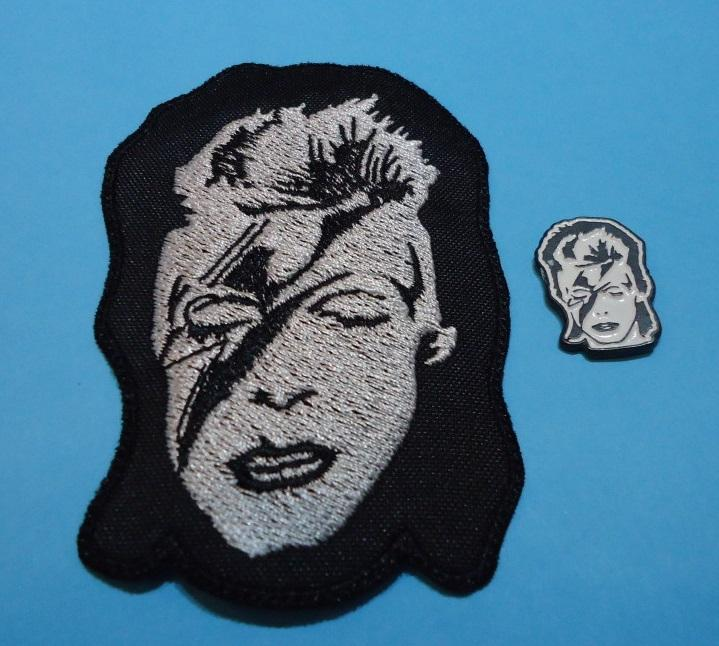 LOTE DAVID BOWIE Pin + Parche