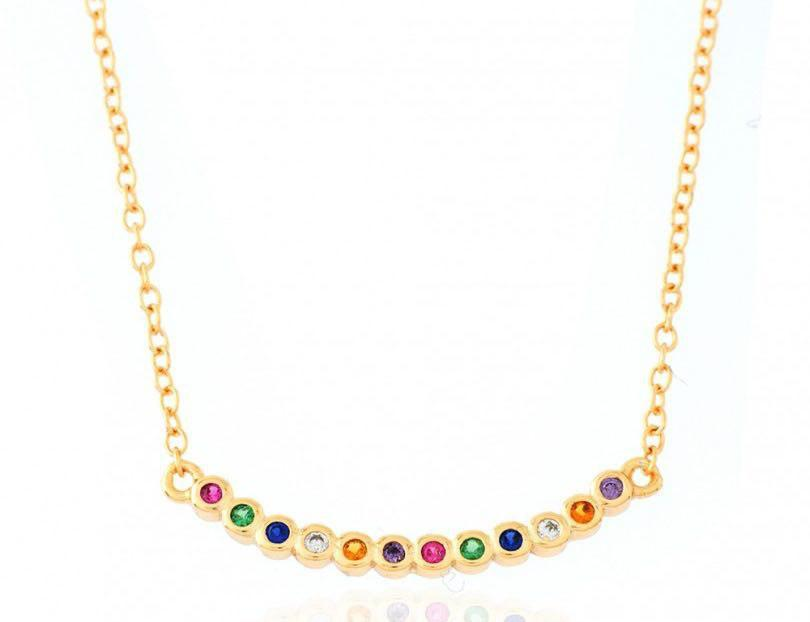 Collar Arcoiris Oro