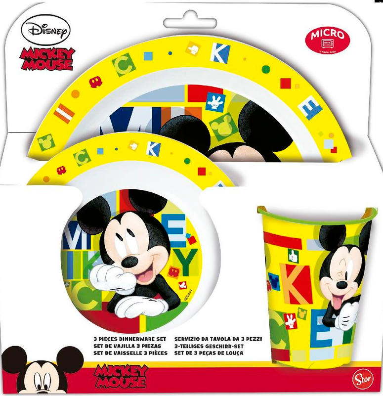 DISNEY Set 3 pieces Mickey Mouse microwave set
