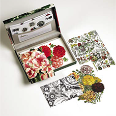 Set de Cartas Flower Prints Detalle