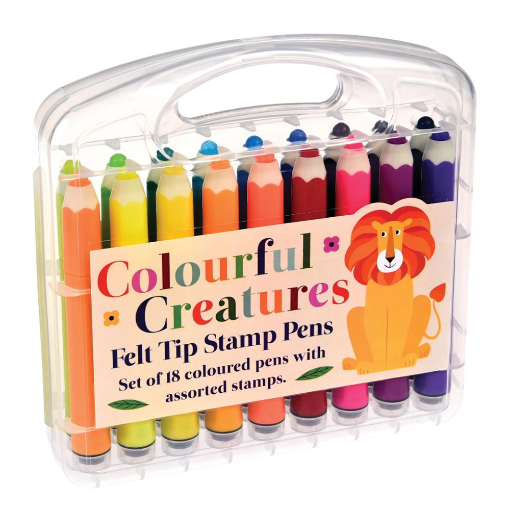 REX LONDON Rotuladores Colorful Creatures Felt Tip Stamp