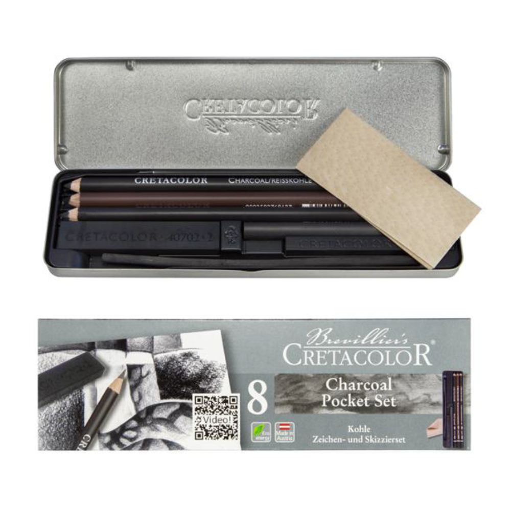 Cretacolor Charcoal Pocket Set