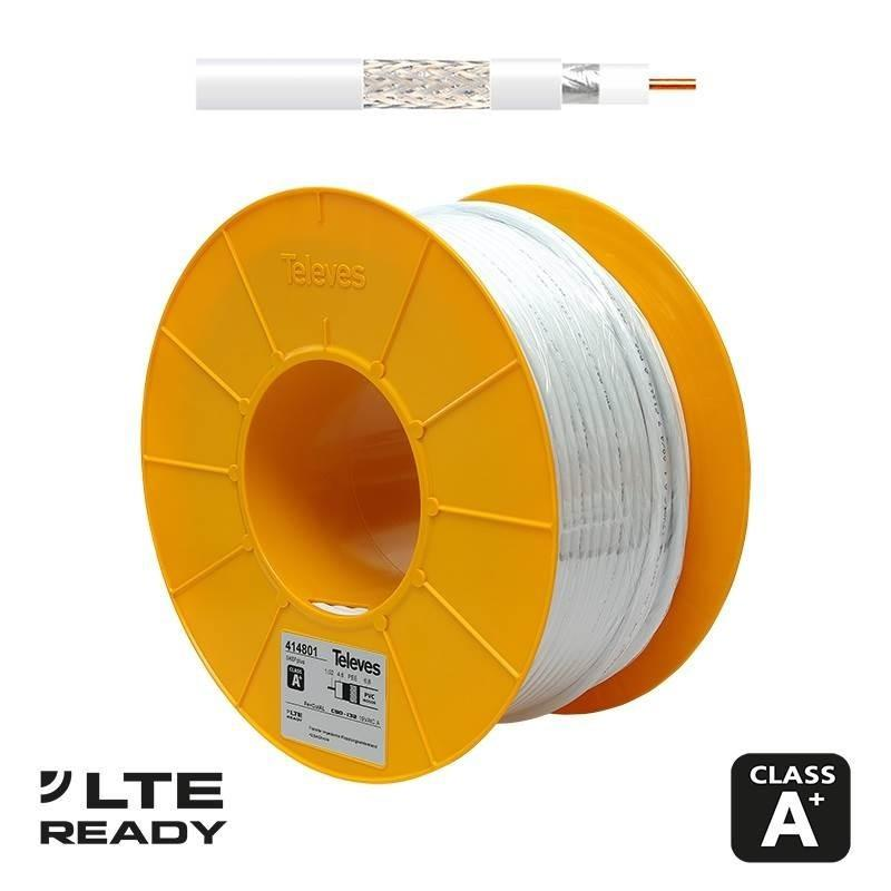 Televes Cable Coaxial TV SK6Fplus Blanco 100m 414801