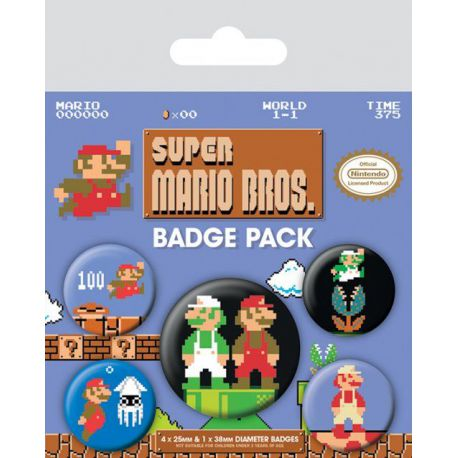 Pack De Chapa Super Mario Bros