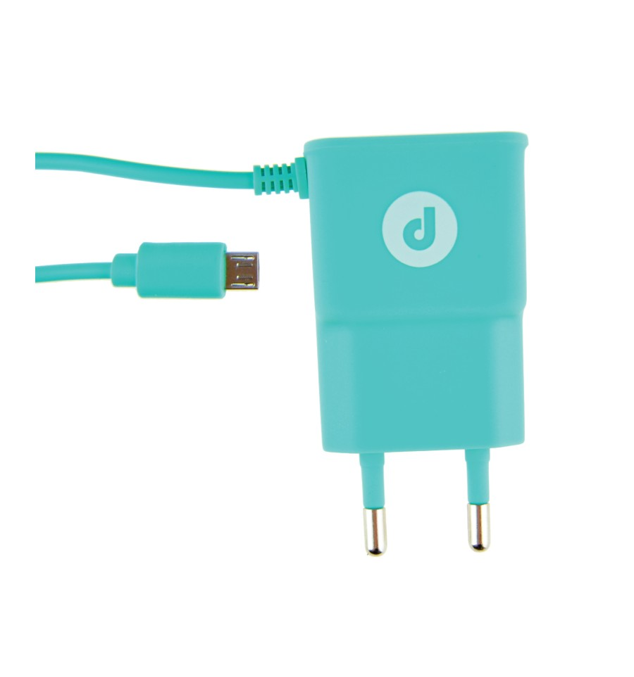 Cargador De Pared Con Cable (Android) Verde