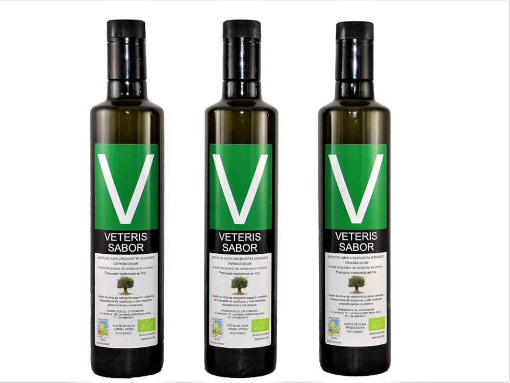 Veteris Sabor ® Lote de 3 botellas dórica de 500ml