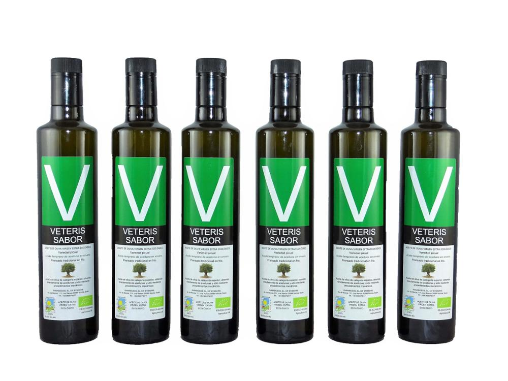 Veteris Sabor ® Lote de 6 botellas dorica 500ml