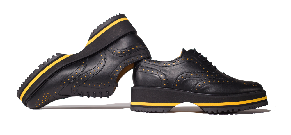 1001atmosphera - MEKKAI Zapato Brogue Piel Negro