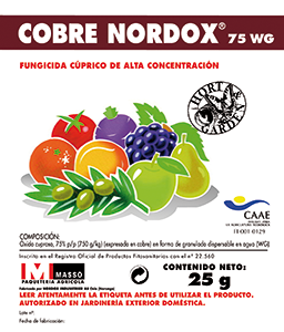 Agricentro - F COBRE NORDOX 75WG 25gr. JED