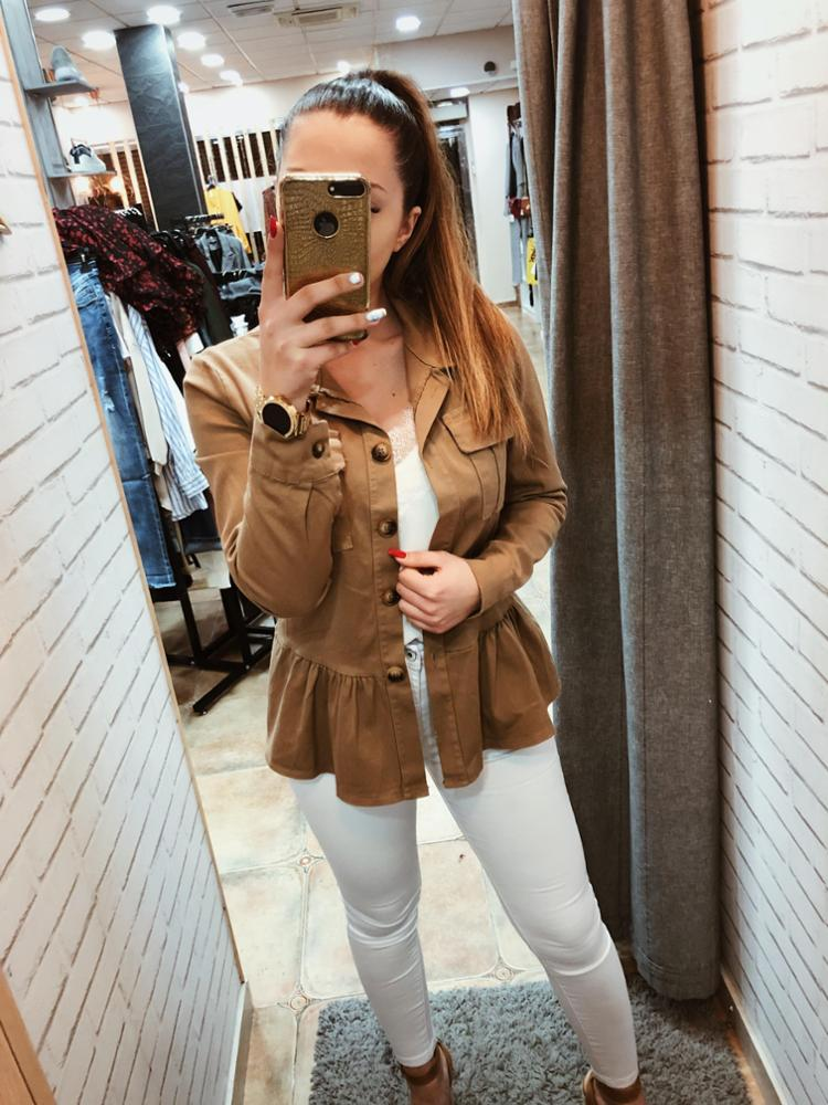 amour - AMOUR CHAQUETA MILITAR CAMEL