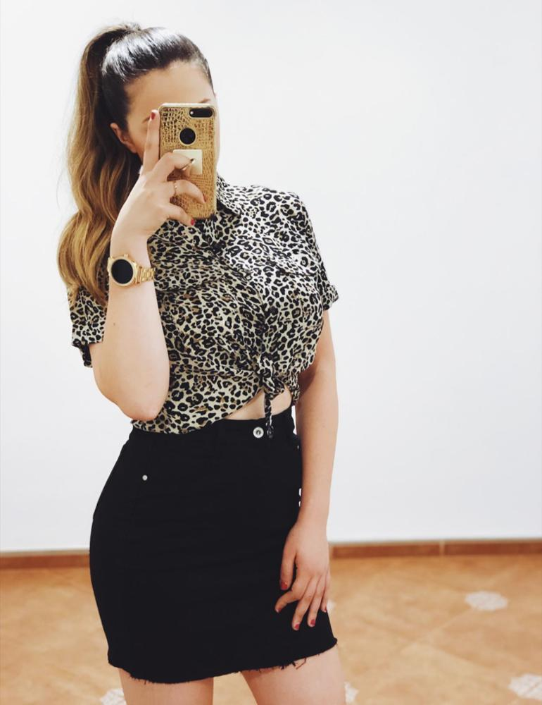 amour - AMOUR CAMISA PRINT LEOPARD
