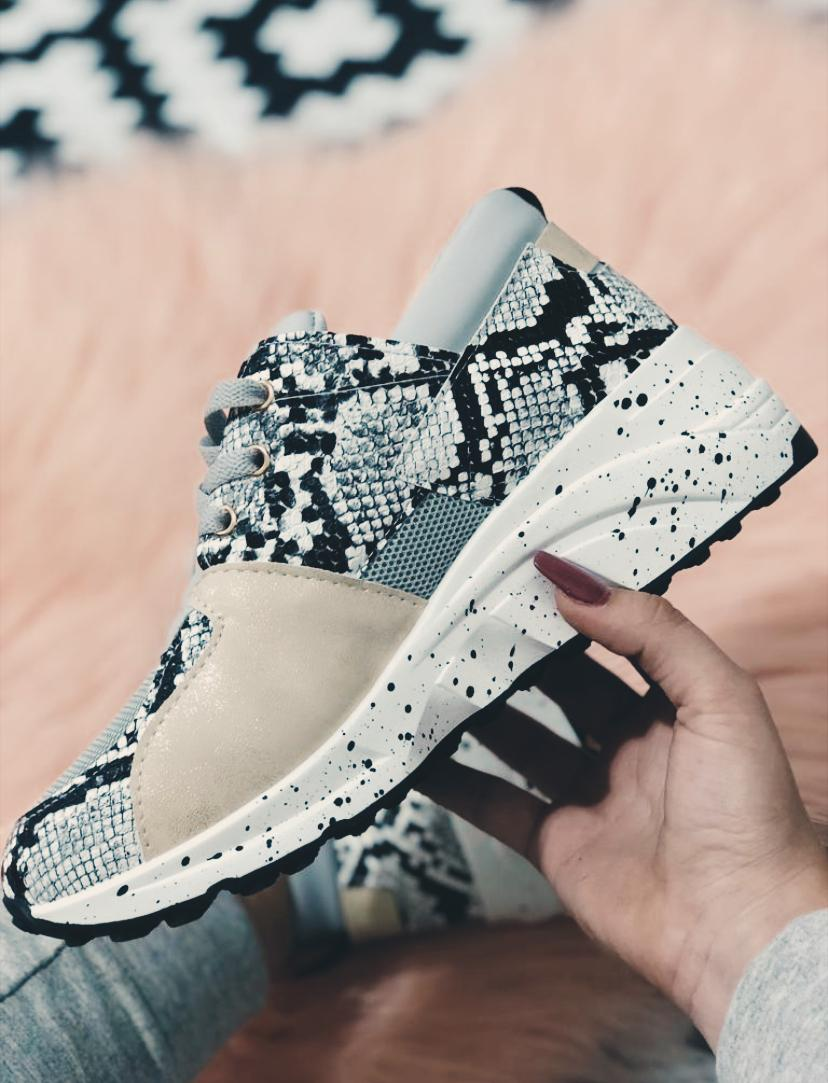 amour - AMOUR ZAPATILLA SNAKE GRIS
