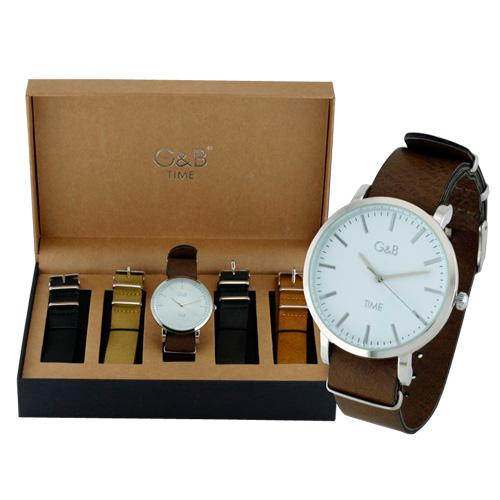 ayashop - G&B TIME Conjunto Reloj  RGB-43641