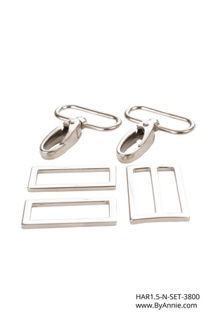 byannieeurope - Hardware 1-1/2 inch - Nickel - Set 3800