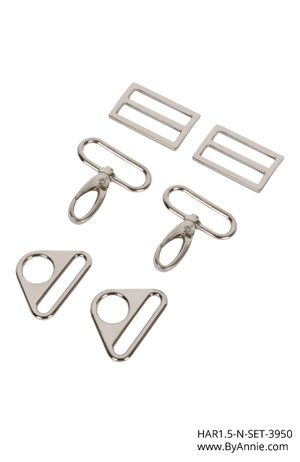 byannieeurope - Hardware 1-1/2 inch - Nickel - Set 3950