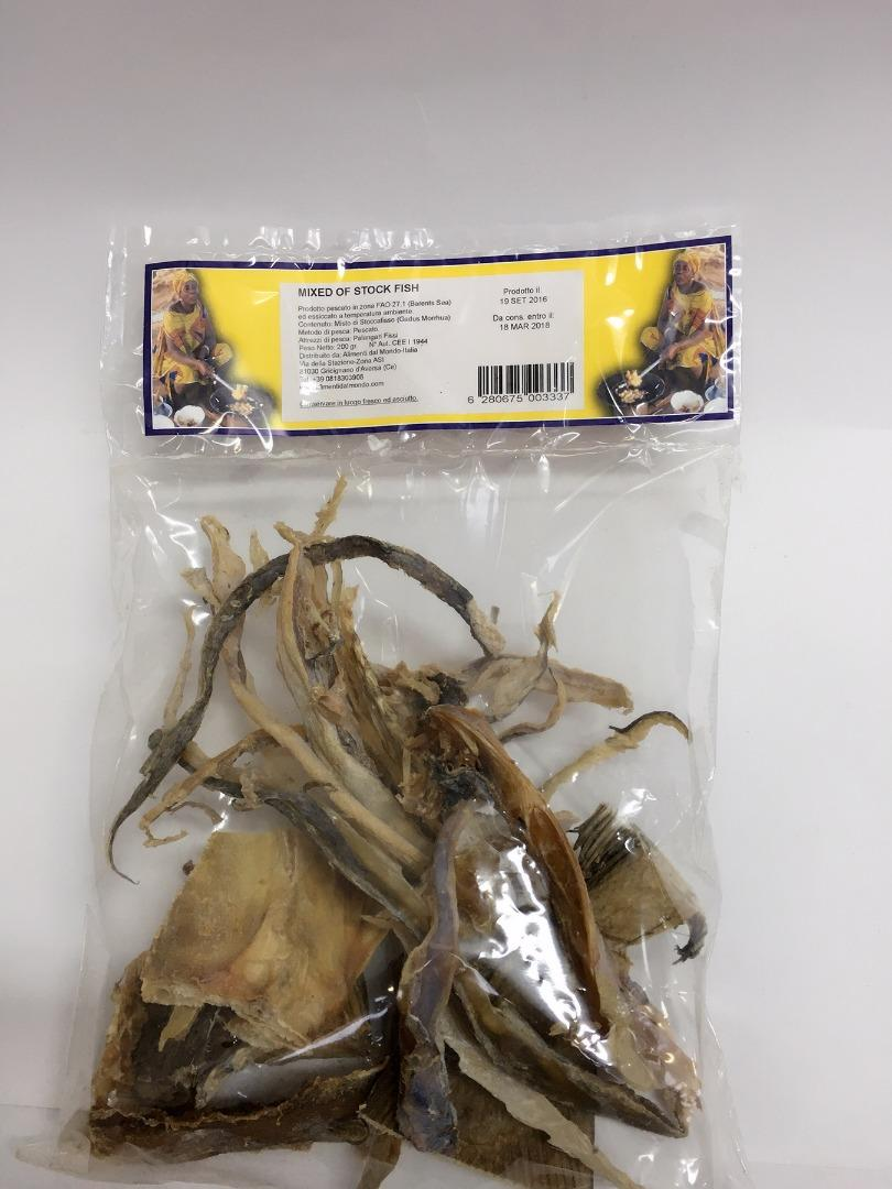COMERCIAL CHINERE - MAMA AFRICA MIXED OF STOCKFISH 200GR