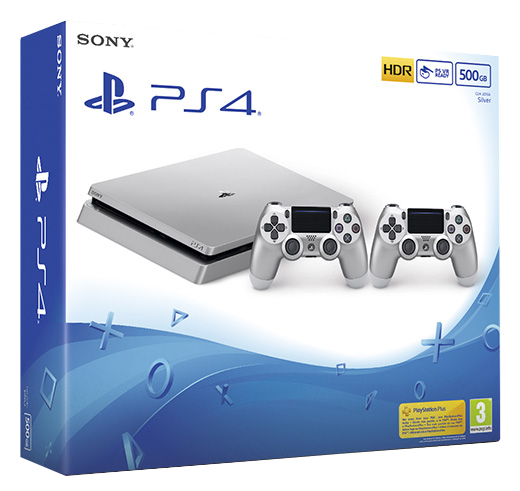 ElectroGame - Sony PS4 Slim 500Gb + 2 Dualshocks 4 (Plata)