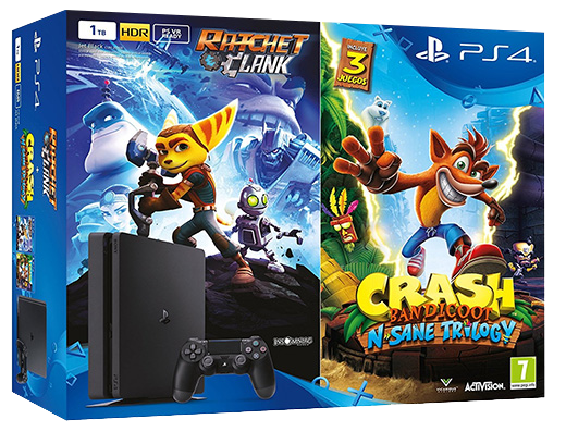 ElectroGame - Sony PS4 Slim 1Tb + Ratchet & Clank + Crash Bandicoot