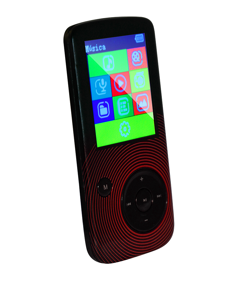 electronicaroxel - Sytech REPRODUCTOR MP4, RADIO FM, MICRO-SD, 8 GB, ROJO