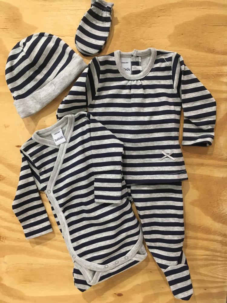 fada-cotton - conjunto set 5 piezas bebe.