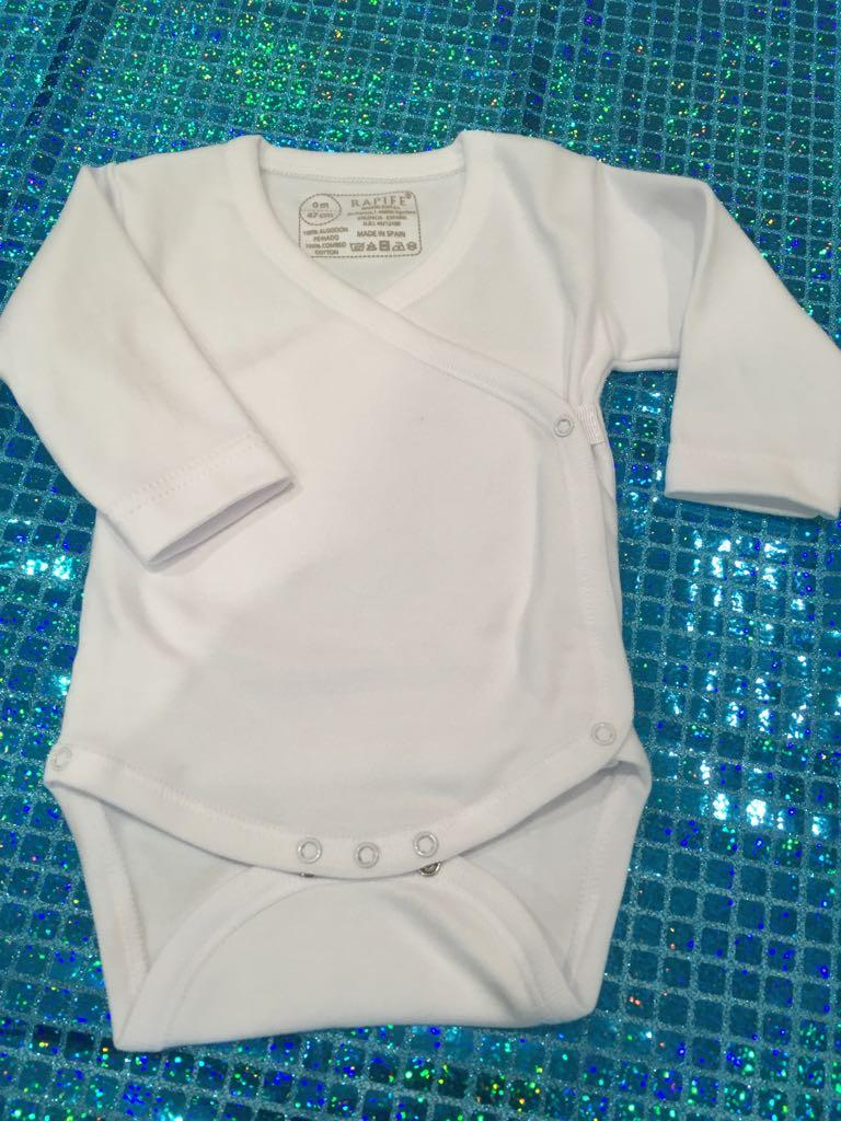 fada-cotton - Body cruzado M/Larga M/Corta Tirantes T-0/1/3m