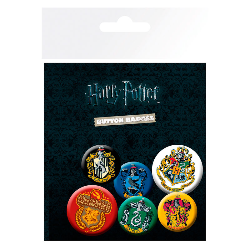 funkostars - Set de chapas Escudos Harry Potter