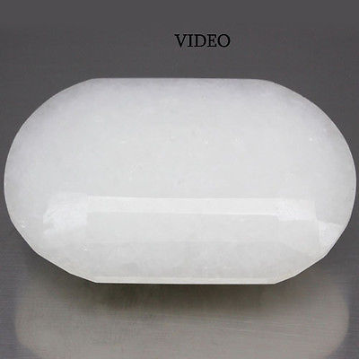 GEMSINOR Jewelry&Gems - 143.96 CT BIG! BEWITCHING! NATURAL! WHITE CHINA JADE OVAL