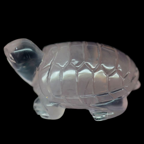69.65 CT NATURAL! PINK QUARTZ AFRICA QUARTZ TURTLE CARVED