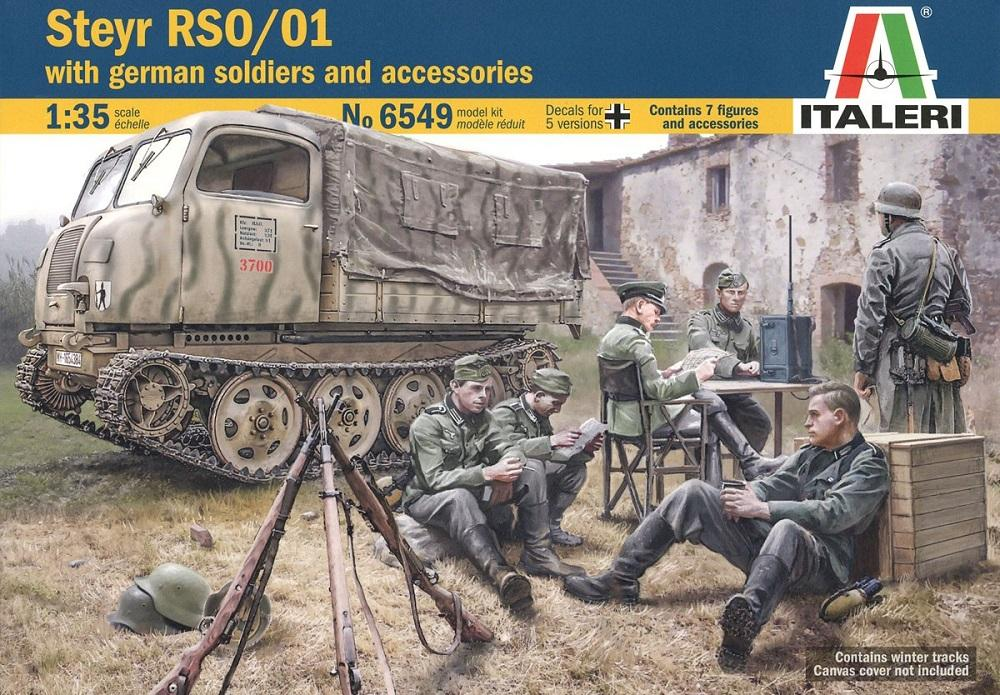 hobby-maquetas.net - ITALERI 6549 Steyr RSO/01 with German Soldiers and Accesories (WWII)