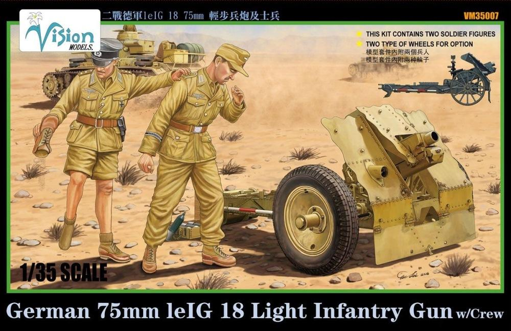 hobby-maquetas.net - VISION MODELS VM35007 German 7,5cm le.IG.18 Light Infantry Gun with Crew (WWII)