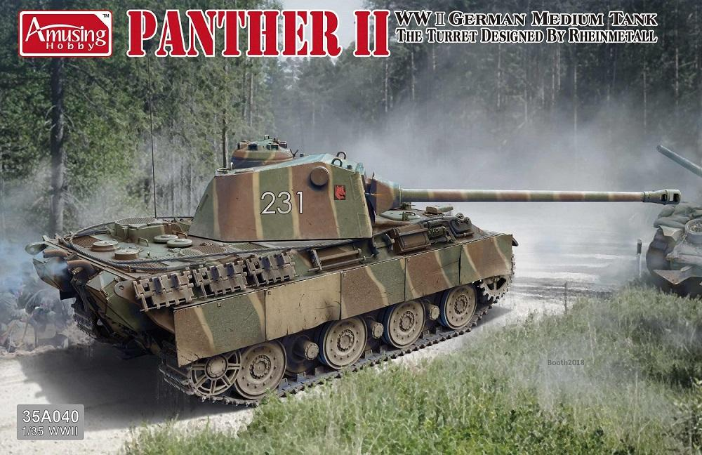 hobby-maquetas.net - AMUSING HOBBY 35A040 German Medium Tank 'Panther II'
