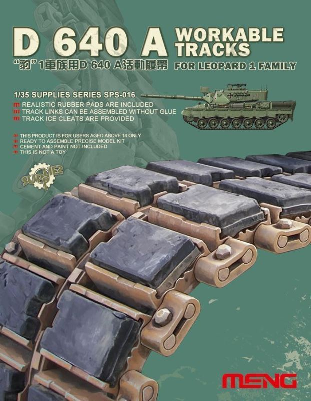 hobby-maquetas.net - MENG MODEL SPS016 D 640 A Workable Tracks for Leopard 1 Family