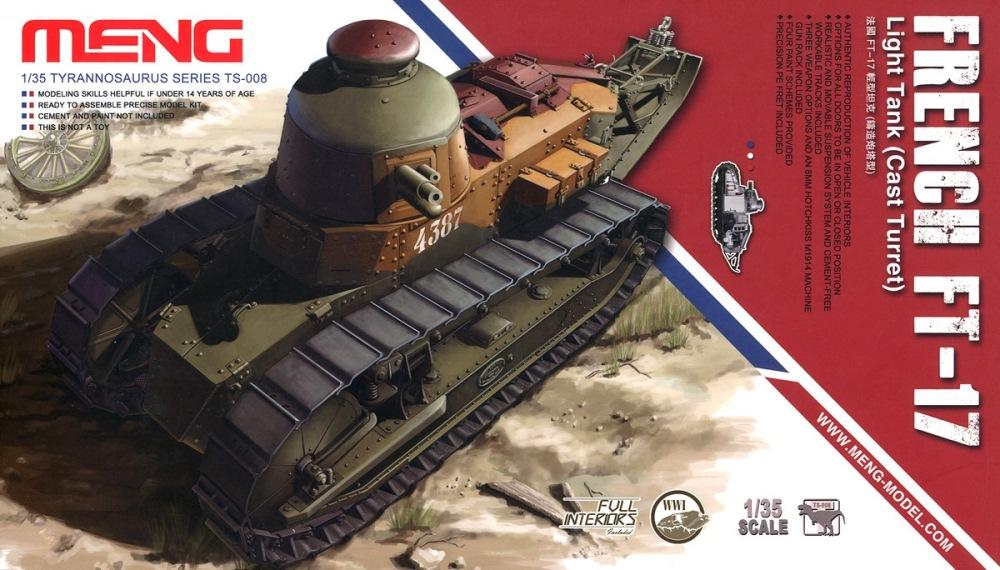 hobby-maquetas.net - MENG MODEL TS008 French FT-17 Light Tank (with Full Interior)