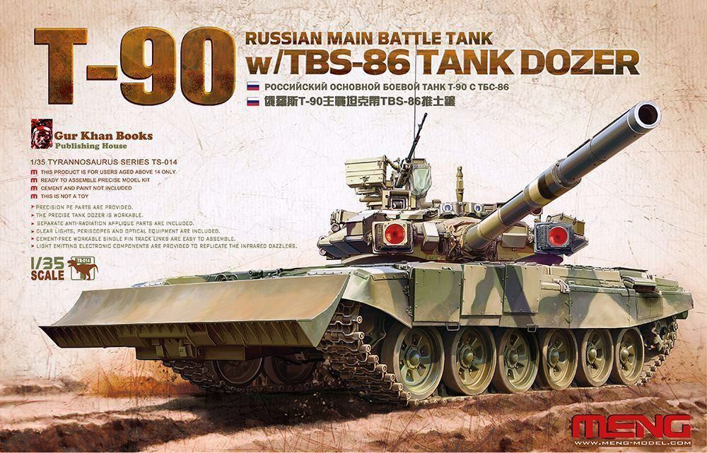 hobby-maquetas.net - MENG MODEL TS014 Russian Main Battle Tank T-90 with TBS-86 Tank Dozer