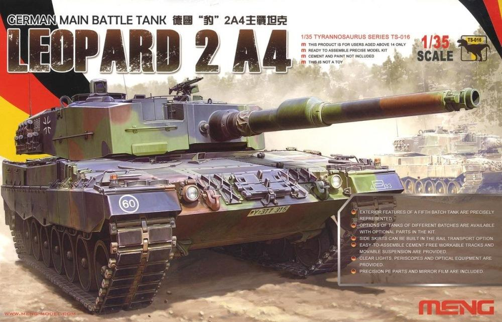 hobby-maquetas.net - MENG MODEL TS016 German Main Battle Tank Leopard 2 A4