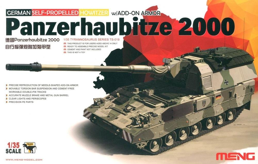 hobby-maquetas.net - MENG MODEL TS019 Panzerhaubitze 2000 with Add-on Armor