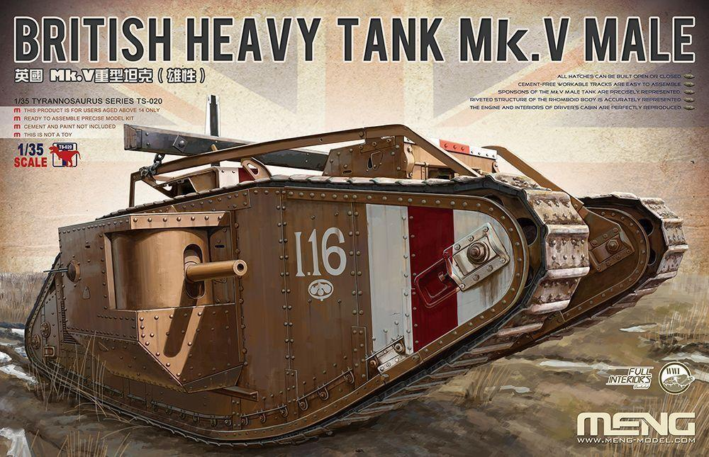 hobby-maquetas.net - MENG MODEL TS020 British Heavy Tank Mk.V Male (with Full Interior)