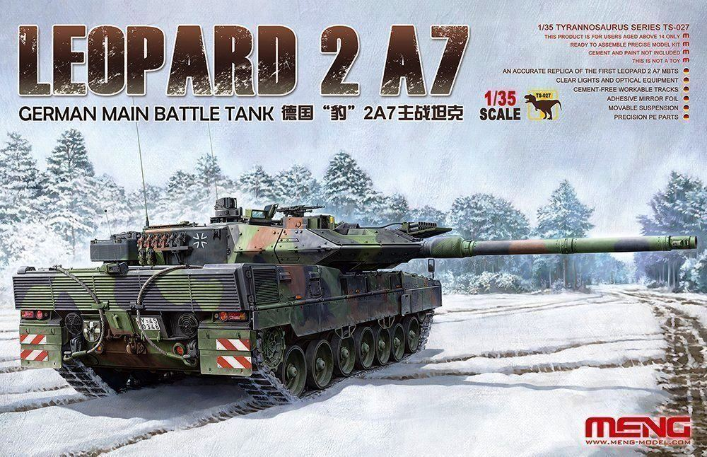 hobby-maquetas.net - MENG MODEL TS027 German Main Battle Tank Leopard 2 A7