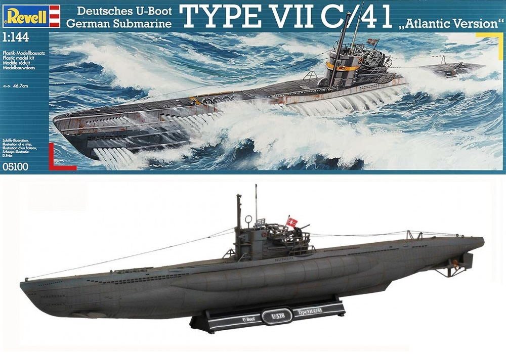REVELL 05100 German Submarine U-Boot Type VII C/41 'Atlantic Version'