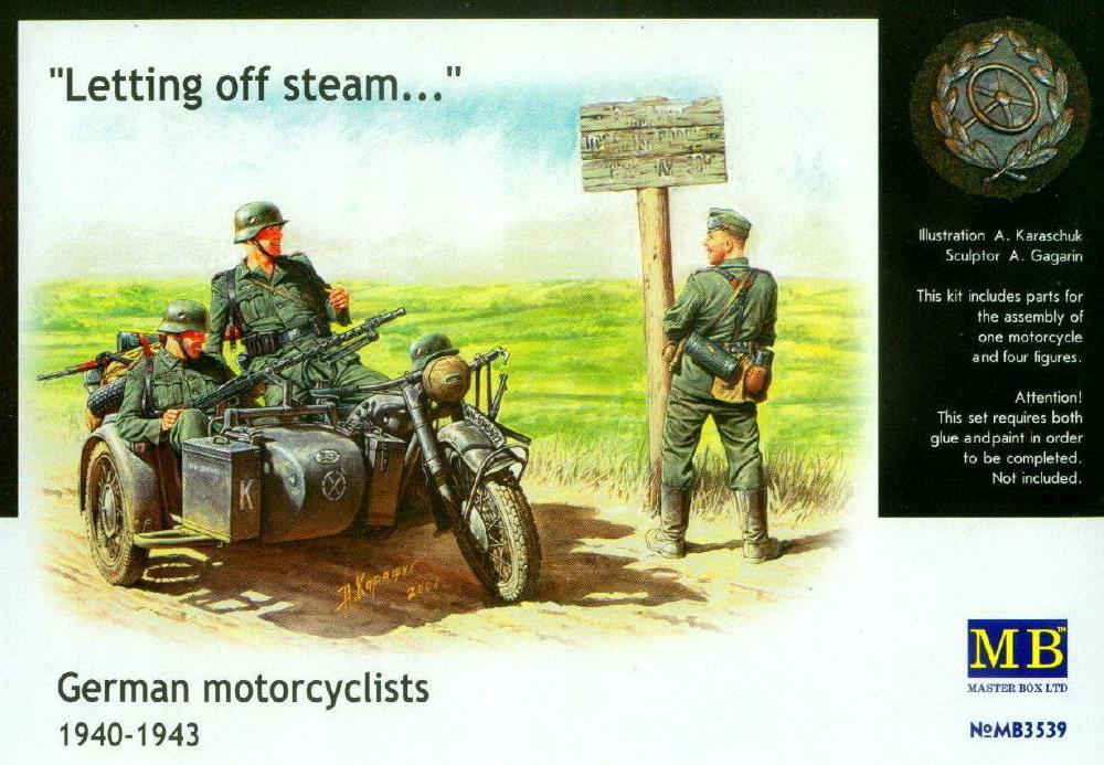 hobby-maquetas.net - MASTER BOX 3539 German Motorcyclists 'Letting off Steam' (1940-43)