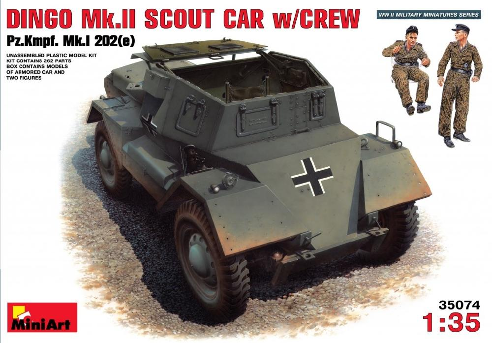 hobby-maquetas.net - MINIART 35074 Dingo Mk.II Scout Car with German Crew (Captured)