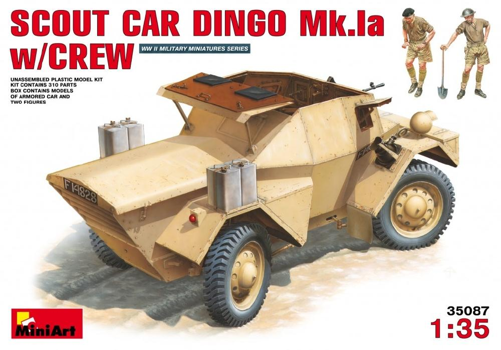 hobby-maquetas.net - MINIART 35087 British Scout Car Dingo Mk.Ia with Crew (WWII)