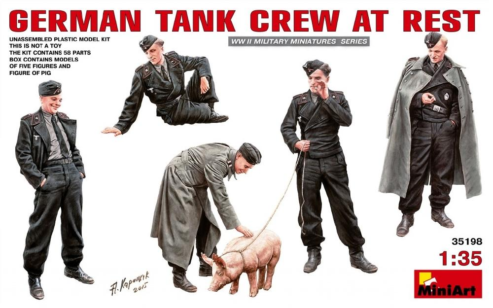 hobby-maquetas.net - MINIART 35198 German Tank Crew at Rest (WWII)