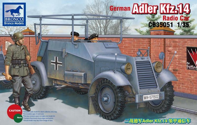 hobby-maquetas.net - BRONCO MODELS CB35051 German Adler Kfz.14 Radio Car (WWII)