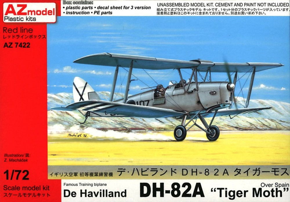 hobby-maquetas.net - AZ MODEL 7422 de Havilland DH.82 Tiger Moth (over Spain)