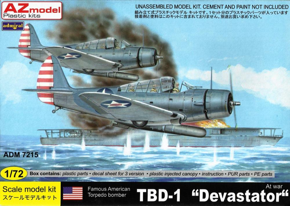 ADMIRAL - AZ MODEL 7215 Douglas TBD-1 'Devastator' (at War)